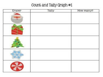 Dollar Tree Christmas Erasers Graph Pack