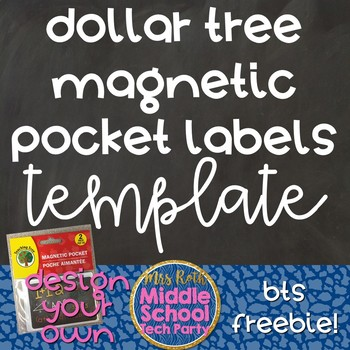 Dollar Tree Magnetic Pocket Labels Template