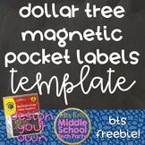 Dollar Tree Magnetic Pocket Labels Template