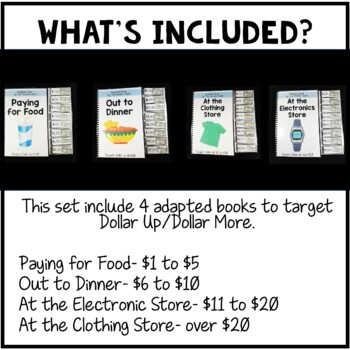 Dollar Up Adapted Interactive Books for Autism and Special Education