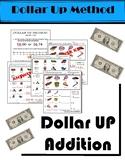 Dollar Up Addition Worksheets