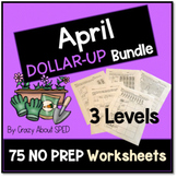 Dollar-Up Bundle April- Life Skills Money Math for Special
