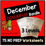 Dollar-Up Bundle December- Life Skills Money Math for Spec