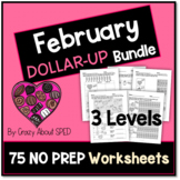 Dollar-Up Bundle February-- Money Math for Special Education