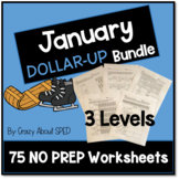 Dollar-Up Bundle January- Life Skills Money Math Special E