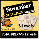 Dollar-Up Bundle November- Life Skills Money Math for Spec