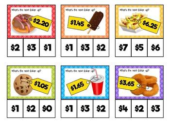 Dollar Up Clip Cards: Food