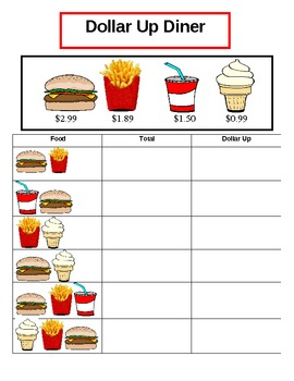 Dollar Up Diner Worksheet