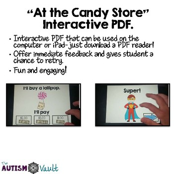 Dollar Up Interactive PDF for Autism and Special Education