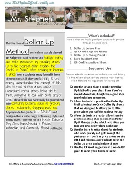 Dollar Up Method Worksheets & Planning