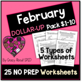 Dollar-Up Pack $1-10 February- Life Skills Money Math for