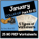 Dollar-Up Pack $1-10 January- Life Skills Money Math for S