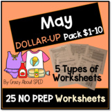 Dollar-Up Pack $1-10 May- Life Skills Money Math for Speci