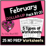 Dollar-Up Pack $1-20 February- Life Skills Money Math for