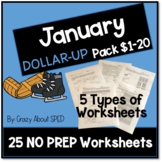 Dollar-Up Pack $1-20 January- Life Skills Money Math for S