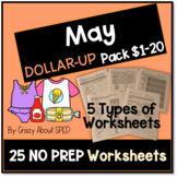 Dollar-Up Pack $1-20 May- Life Skills Money Math for Speci