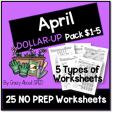 Dollar-Up Pack $1-5 April- Life Skills Money Math for Spec