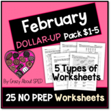 Dollar-Up Pack $1-5 February - Life Skills Money Math for