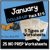 Dollar-Up Pack $1-5 January - Life Skills Money Math for S