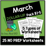 Dollar-Up Pack $1-5 March - Life Skills Money Math for Spe