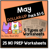 Dollar-Up Pack $1-5 May- Life Skills Money Math for Specia