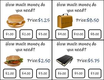 Dollar Up Task Cards-2 Levels