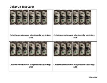 Dollar Up Task Cards