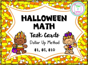 Dollar Up Task Cards - Halloween