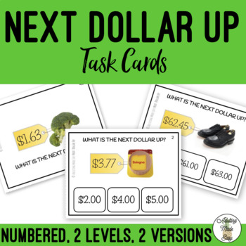 Next Dollar Up Task Clip Cards Money Math Life Skills Real Images