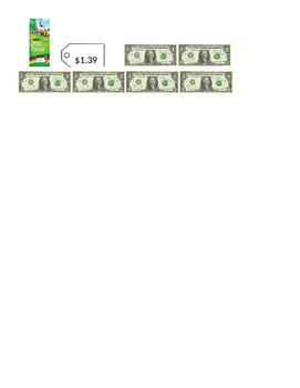 Dollar Up Worksheet {Freebie}