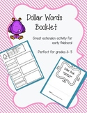 Dollar Words Booklet