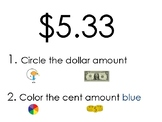 Dollar and Cent Identification