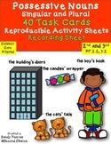 DollarDeal! Possessive Nouns {Singular & Plural} 40 Task Cards CCSS