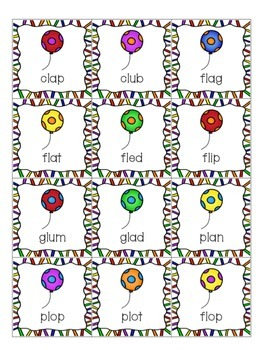 $$DollarDeals$$ Balloon Pop!  - Words with Initial L- blends