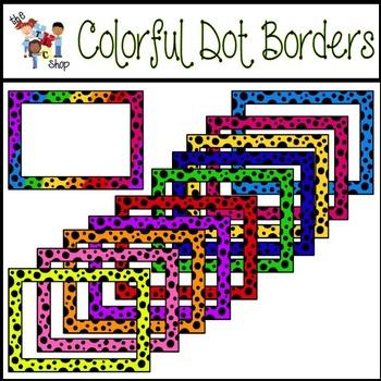 $$DollarDeals$$ Colorful Dot Borders