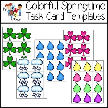 $$DollarDeals$$ Colorful Springtime Task Card Templates