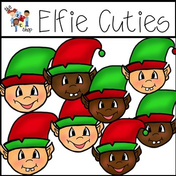 $$DollarDeals$$ Elfie Cuties Clipart Set