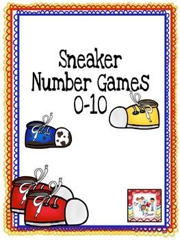 FREE! Sneaker Number Games: 0-10