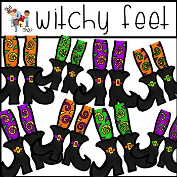 $$DollarDeals$$ Witchy Feet Clipart Set