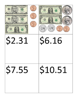 Dollars and Cents Match Up