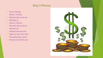 Power Point Dollars and Coins