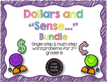 "Dollars and ""sense"" Bundle - Single & Multi-step money wor"