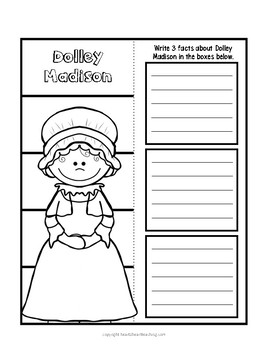 Dolley Madison Organizers for Research Projects