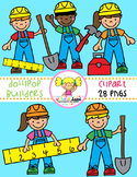 Dollipop Builders {Kids Clipart}