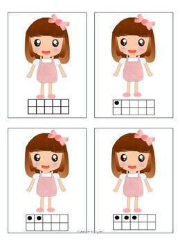 Dolls Number Cards with Ten Frame