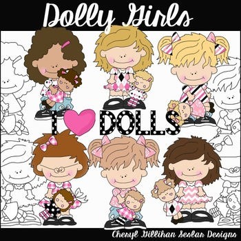 Dolly Girls Clipart Collection