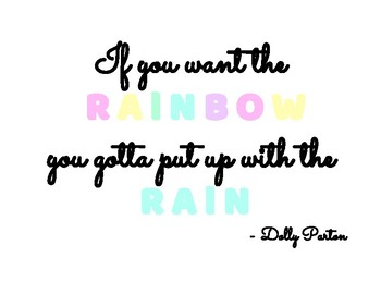 Dolly Parton Quote Poster