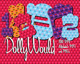 Dolly Would Love These! 4 Country Heart Alphabets  – 300 DPI, PDFs and PNGs