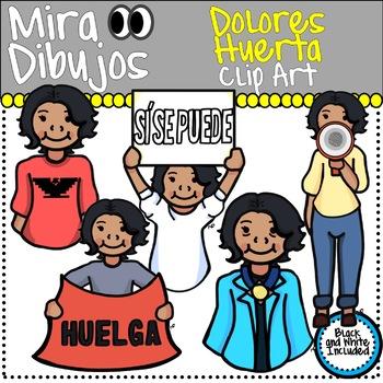 Dolores Huerta Clip Art