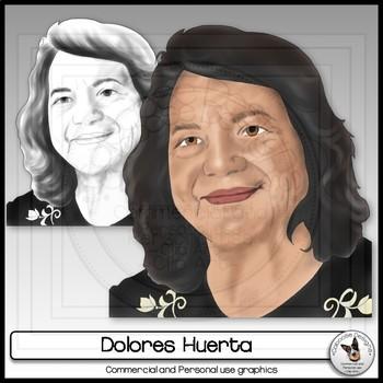 Dolores Huerta Clip Art Workers Rights Leader Realistic Portrait